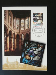 religious art stained glass windows maximum card Netherlands 84463