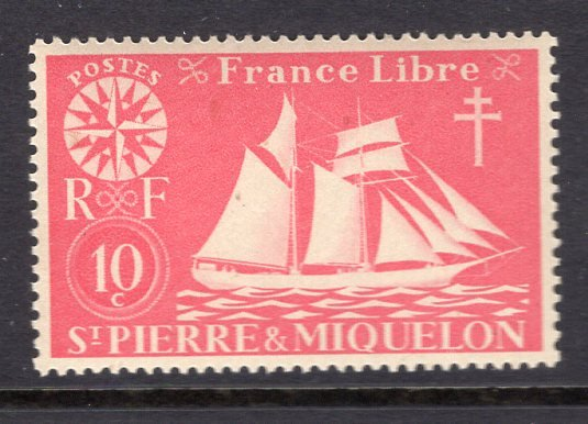 St. Pierre & Miquelon (1942) #301 MNH
