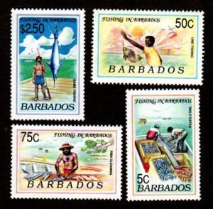 Barbados 799-802 Mint NH MNH Fishing!
