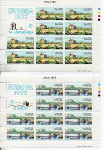 Malta 539-540 MNH sheets ..