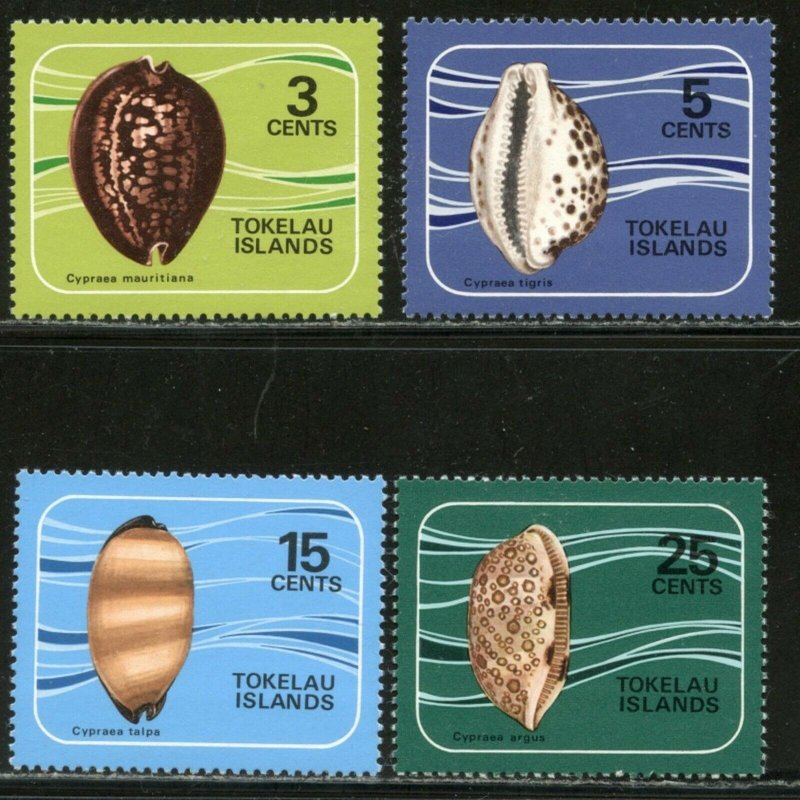 TOKELAU Sc#41-44 1974 Cowrie Shells Complete Set OG Mint NH