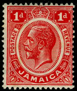 JAMAICA SG58, 1d carmine-red, NH MINT.