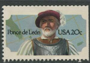 USA - Scott 2024 - Ponce de Leon- 1982 - MLH - Single 20c Stamp