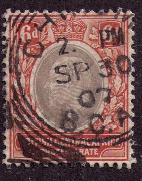 British Central Africa #  73  Used VF Cat $60