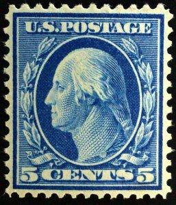 Scott #335 - 5c Washington - Blue - MNH 1909 - 2021 PSAG Cert