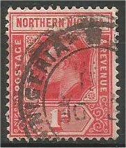 NORTHERN NIGERIA, 1902, used 1p, George V  Scott 41