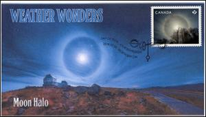 CA18-039, 2018, Weather Wonders, Pictorial, FDC, Moon Halo