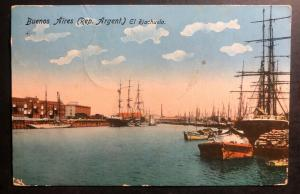1913 Buenos Aires Argentina Picture Postcard Cover To Copenhagen Denmark