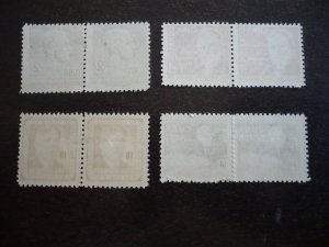 Stamps - Cuba - Scott#543-546 - Mint Hinged Set of 4 Stamps in Pairs