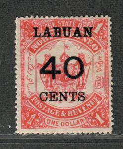 Labuan Sc#62 M/H/F-VF, Cv. $57.50