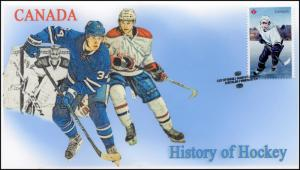CA17-050, 2017, History of Hockey, Modern, Day of Issue, FDC