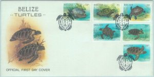 84363 - BELIZE - Postal History -  FDC COVER  19990  SEA TURTLES