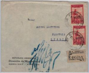 ARGENTINA - POSTAL HISTORY:  SERVICIO OFFICIAL stamps on COVER to ITALY : 1947