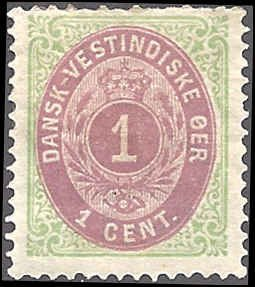 Danish West Indies 5c Mint,OG,HR... SCV $20.00