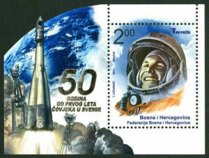 BOSNIA&HERZEGOVINA/2011, 50th Anniversary of Man's First Flight into Space, MNH