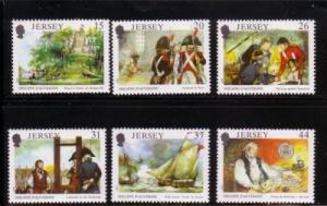 Jersey  Sc 553-8 1991 Philippe d'Auvergne stamps NH