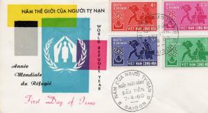 VIETNAM SOUTH 1960 Sc#132-135 World Refugee Year F.D.C.