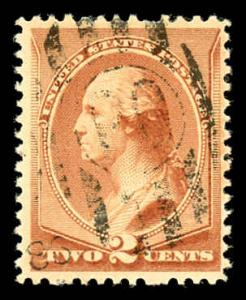USA 210 Used Supplementary Type F Cancel