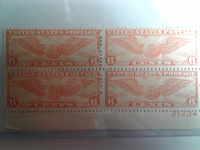 SCOTT # C-19 AIRMAIL PLATE BLOCK MINT NEVER HINGED GEM !!
