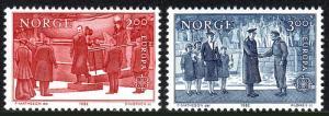Norway 805-806, MNH. Europa CEPT. King Haakon VII, Prince Olav, 1982
