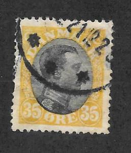 Denmark Scott 115 Used 35o King Christian X stamp 2013 CV $7.25