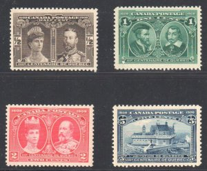 Canada #96 to 103 Mint Fine to XF NH Set C3,060.00 Quebec Tercentenary Issue