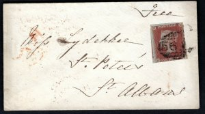 GB WALES Cover RARE WELSH UDC *MAINDEE* 1d Red 1853 B07c