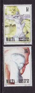 D1-Malta-Scott#917-18-unused NH set-Sculpture-Antonio Sciort