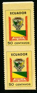 Ecuador Stamps # 832 Imperf Between Pair NH