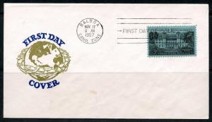 PANAMA CANAL 1957 GORGAS HOSPITAL  FIRST DAY COVER