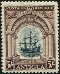 Antigua SC# 76 SG# 90 Thomas Warners ship Concepcion 5shillingds MH