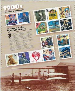 CELEBRATE THE CENTURY COMPLETE SET OF 10 MNH SHEETS - Q183
