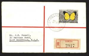 PAPUA NEW GUINEA 1967 Registered cover RELIEF cancel used at LOSUIA........90776