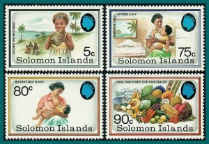 Solomon Islands 1991 Healthy Food Campaigns, MNH #690-693,SG694-SG697