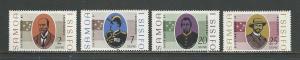 Samoa Scott catalogue #279-282 Unused Hinged