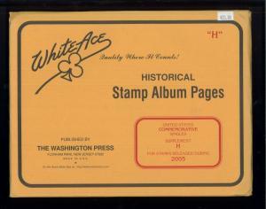 2005 White Ace United States Commemorative Singles Stamp Album Supplement H