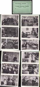 Canada  #8852 -WWII souvenir folder-12 b/w photos of United Services Centre