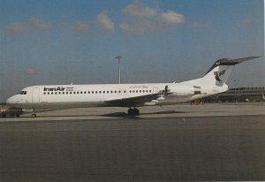 8365 Aviation Postcard  IRAN AIR FOKKER 100 HAMBURGO LISBOA  Airlines