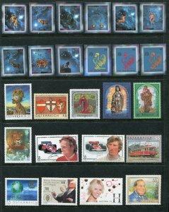 Austria 2005 Complete Year Set NH - Scott 1976-2033 with Zodiac B375 CV $147