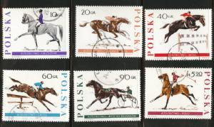Poland Scott 1474-79 used 1967 short horse set