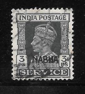 India Nabha O40: 3p George VI, used, F-VF