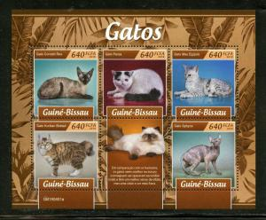 GUINEA BISSAU 2019 CATS SHEET MINT NEVER HINGED