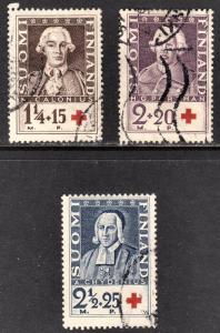 Finland Scott B18-20  complete set  F to VF used.
