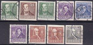 Sweden #290-98  F-VF Used CV $4.35  (Z5233)