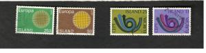1973 Europa SC #420-21 #447-48 Island used stamps