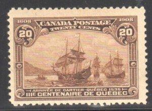 Canada #103 F-VF MINT C$275.00  -- Gum side is SUPERB ... Wow