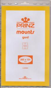 Prinz Stamp Mount 131/265 CLEAR Background Pack of 5