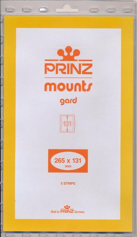 Prinz SCOTT Stamp Mount 131/265 mm - CLEAR (Pack of 5) (131x265  131mm)  STRIP