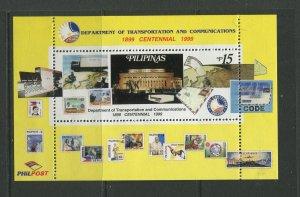 STAMP STATION PERTH Philippines #2601 Cent. Transport Souvenir Sheet MNH CV$4.00