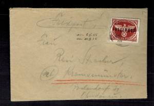 1945 Rhodes Inselpost Feld Post Cover to Germany Mogler Expert Certificate